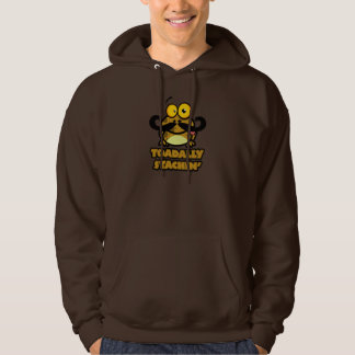 funny toadally stachin toad with a mustache hoodie