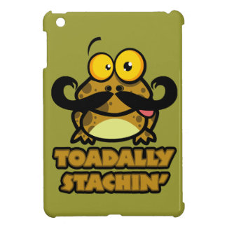 funny toadally stachin toad with a mustache cover for the iPad mini