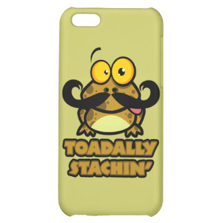 funny toadally stachin toad with a mustache iPhone 5C cases