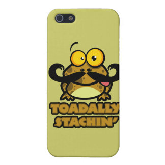 funny toadally stachin toad with a mustache iPhone 5 cases