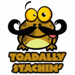 funny toadally stachin toad with a mustache cut out
