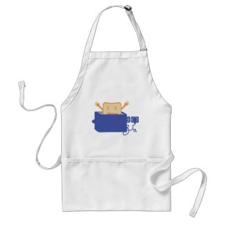 funny toaster icon adult apron