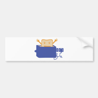 funny toaster icon bumper sticker