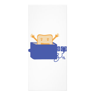 funny toaster icon rack card