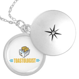 Funny Toaster Silver Plated Necklace
