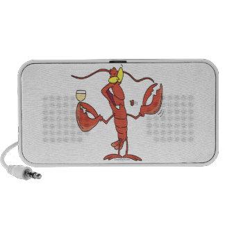 funny toasting lobster cartoon travelling speaker