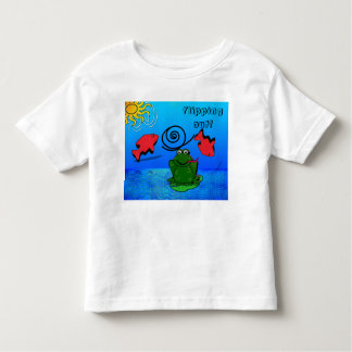 Funny Toddler Frog and Fish T-shirt