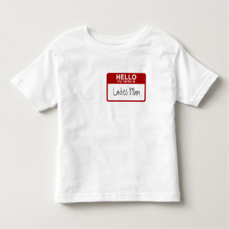 Funny Toddler T-Shirt, Hello My Name is Ladies Man T Shirt