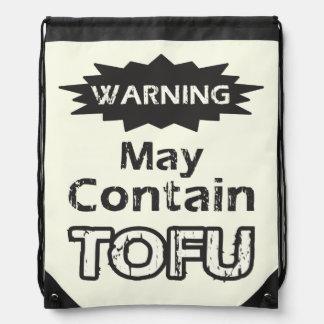 Funny Tofu Drawstring Bag