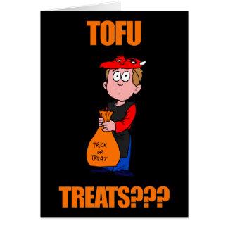 Funny Tofu Halloween Greeting Card