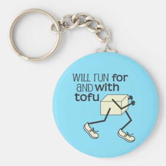 Funny TOFU Runner Basic Round Button Keychain