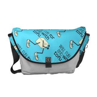 Funny TOFU Runner Messenger Bag