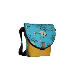 Funny TOFU Runner Messenger Bags