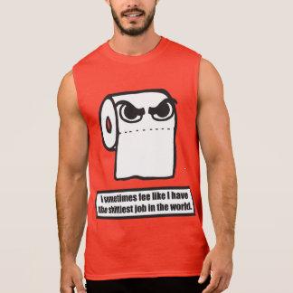 Funny Toilet Paper Meme - Worst Job In The World Sleeveless Shirt