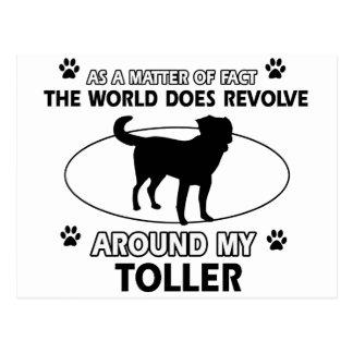 Funny toller designs postcard