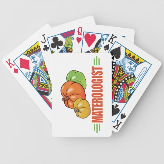 Funny Tomato Bicycle Playing Cards