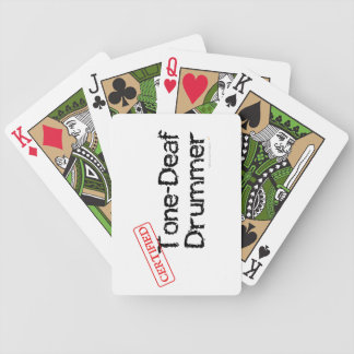 Funny Tone Deaf Drummer Music Custom Playing Cards