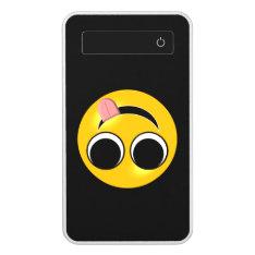 Funny Tongue Emoji Power Bank at Zazzle