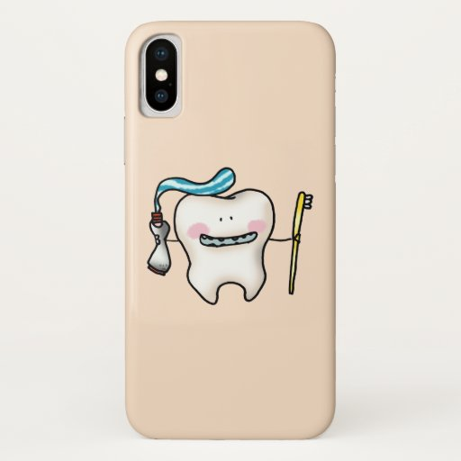 funny tooth cartoon iPhone XS case