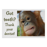 Funny Tooth Gratitude Print