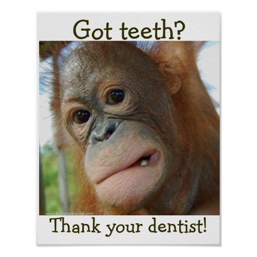 Funny Tooth Gratitude- special request Print