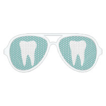 Funny tooth logo party shades for dentist practice