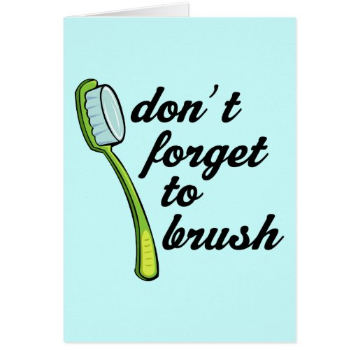 Funny Toothbrush Dentist Card