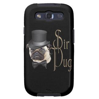 Funny Top Hat Monocle Sir Pug Dog Samsung Galaxy S3 Case