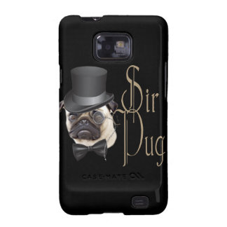 Funny Top Hat Monocle Sir Pug Dog Samsung Galaxy S2 Covers