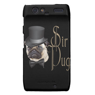 Funny Top Hat Monocle Sir Pug Dog Droid RAZR Cases