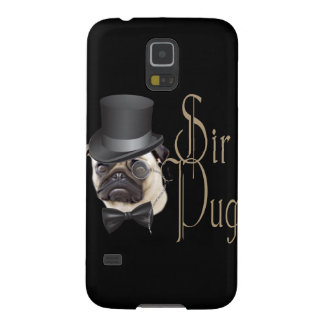 Funny Top Hat Monocle Sir Pug Dog Galaxy S5 Covers