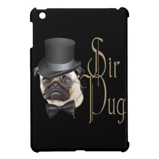 Funny Top Hat Monocle Sir Pug Dog Case For The iPad Mini