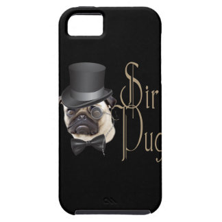 Funny Top Hat Monocle Sir Pug Dog iPhone 5 Cover