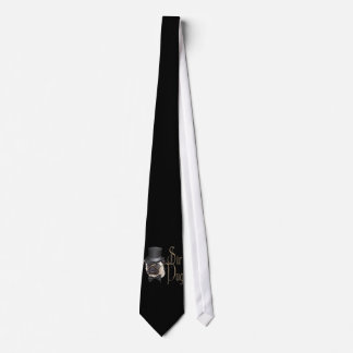 Funny Top Hat Monocle Sir Pug Dog Neck Tie