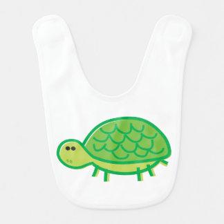 Funny Tortoise on White Baby Bibs
