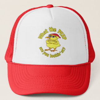 Funny Tough Easter Chick Trucker Hat
