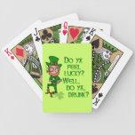 Funny Tough Lucky Drunk Leprechaun Poker Deck