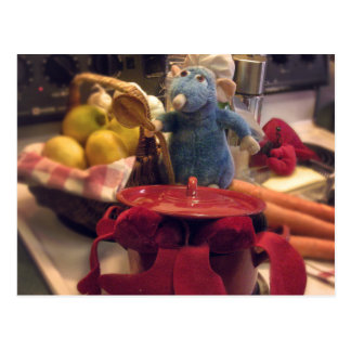 Funny Toy Chef Cooking Lobsters Postcard