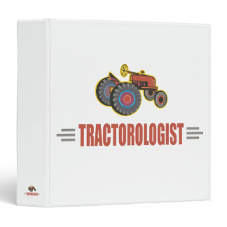Funny Tractor 3 Ring Binder