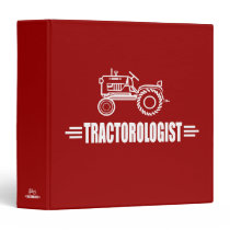 Funny Tractor 3 Ring Binders