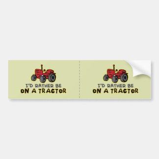 Funny Tractor Car Bumper Sticker