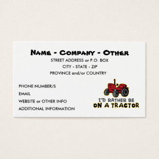Funny Tractor Business Card
