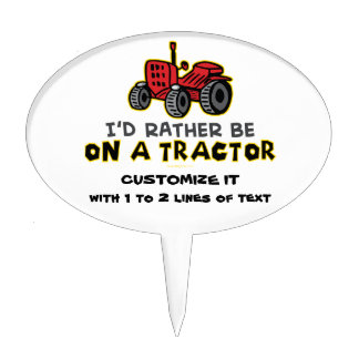 Funny Tractor Cake Topper