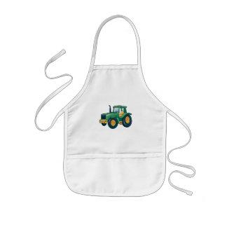 Funny Tractor Cartoon Design Kids' Apron