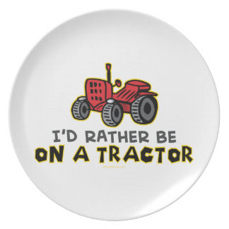 Funny Tractor Dinner Plate