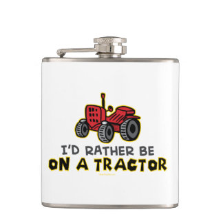 Funny Tractor Hip Flask