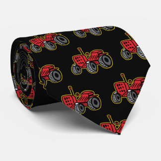 Funny Tractor Humorous Old Red Jalopy Neck Tie