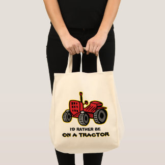 Funny Tractor Humorous Old Red Jalopy Tote Bag