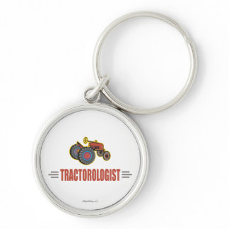 Funny Tractor Keychain