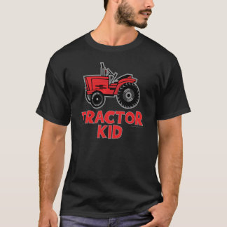 Funny Tractor Kid Lawnmowing T-Shirt